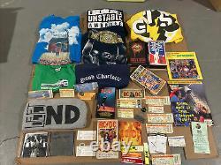 VTG Lot Of Rock Ticket Stubs Set List Entertainment Concert Shirts VHS CD Rare