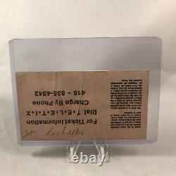 Van Halen Marin Veterans Auditorium CA Concert Ticket Stub Vintage April 5 1979