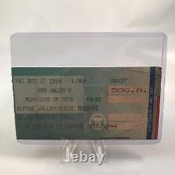 Van Halen Metallica Monsters Of Rock Alpine WI Concert Ticket Stub May 27 1988
