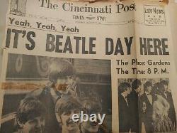 Vintage 1960's Beatles Scrap Book With Concert, Movie, TV Ticket Stubs Cincinnati