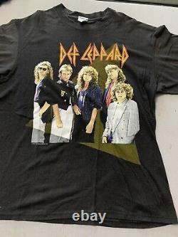 Vintage 1987 Def Leppard Hysteria Original Concert Shirt Ticket Stub & Program