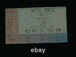 Vintage 1992 The Cure Wish Tour Concert Shirt & Ticket Stub Washington DC