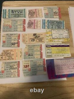 Vintage Concert Ticket Stub Lot