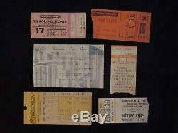 Vintage Concert Ticket Stub Lot (6) Bowie, Pink Floyd, Concert For Nyc, Stones