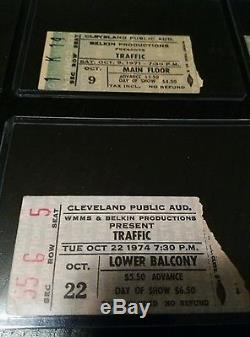 Vintage Concert Ticket Stub Lot, Dead, Bowie, Stones, Cooper and more! 13 pcs