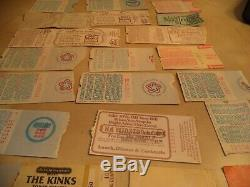 Vintage Concert Ticket Stubs 70s-80s Heart, The Kinks, Yes, Genesis and More