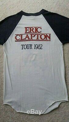 Vintage Eric Clapton 1982 Tour Tshirt & Ticket Stub 80's Concert Raglan T Shirt