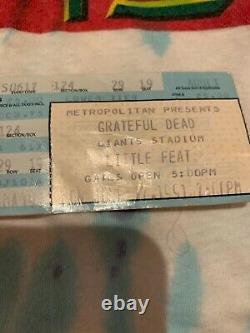 Vintage Grateful Dead 1991 Truckin Summer Tour T Shirt withConcert Ticket Stub
