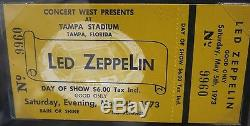 Vintage LED ZEPPELIN Original Concert Ticket Stub Tampa Stadium FL