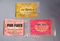 Vintage LED ZEPPELIN & PINK FLOYD Original Concert Ticket Stub Tampa Stadium FL