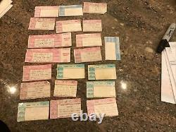Vintage Lot Of 20 90s Concert Ticket Stubs Metallica Iron Maiden Van Halen Rush