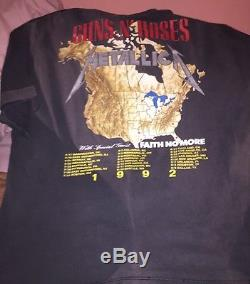 Vintage Metallica And GNR Concert T-Shirts With Original Ticket Stub