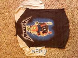 Vintage Metallica shirt and concert ticket stub from 88