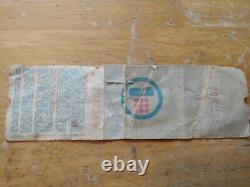 Vintage Pink Floyd Concert Ticket And Stub And Carnival Mirror