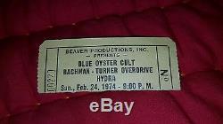 Vintage Rock concert ticket stubs rock and roll