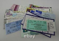 Vintage Variety Concert Ticket Stubs Lot Of 80's 2010's