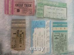 Vintage concert ticket stubs. Lot of 40 ticket stubs. A variety of ticket stubs