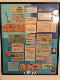 Vintage concert ticket stubs collection
