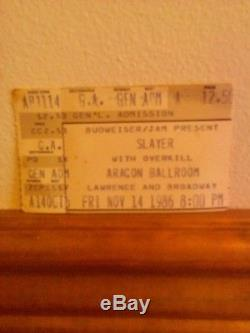 Vintage slayer concert t shirts and ticket stub