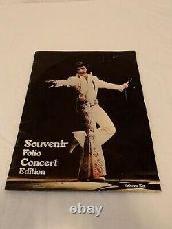 Vtg Elvis Presely Lot Postcards Calendar Magazine Concert Folio And Ticket Stubs