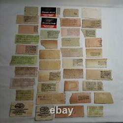 Vtg Lot 40 Rock Concert Ticket Stubs 70s 80s Sabbath Queen Kiss Foghat Styx Rush