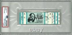 Willie Nelson Signed Vintage Concert Ticket 4/2/83 Jackson, MI Psa Dna 84378145