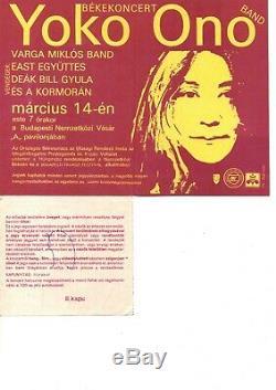 Yoko Ono Band Peace concert EAST Block Hungary 1986. 03.14 ticket stub